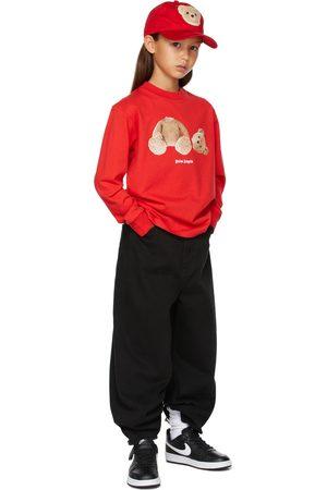 Palm Angels Kids Bear Long Sleeve T-Shirt
