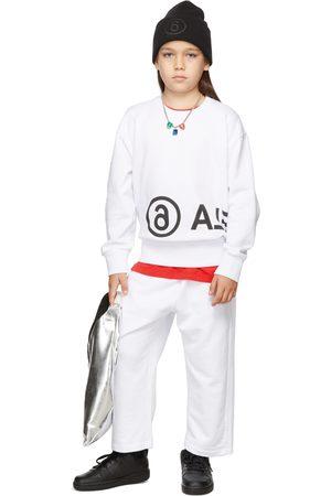 MM6 MAISON MARGIELA Kids Logo Print Sweatshirt