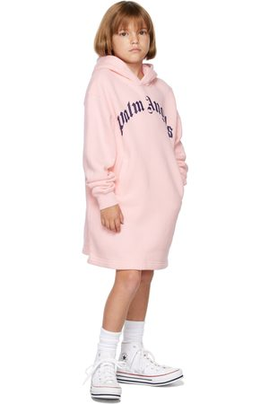 Palm Angels Girls Hoodies - Kids Over Logo Hoodie Dress