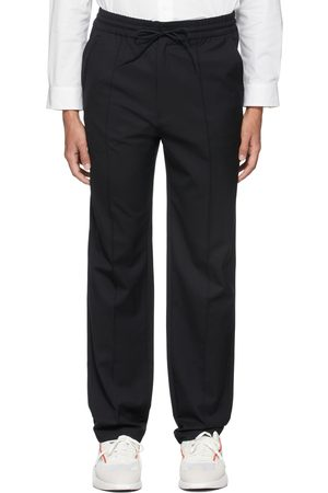 Y-3 Men Formal Pants - Refined Wool Stretch Straight Trousers
