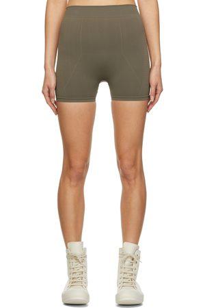 Rick Owens Brown Knit Active Shorts