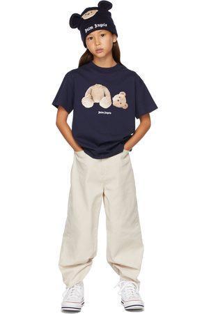 Palm Angels Kids Navy Bear T-Shirt