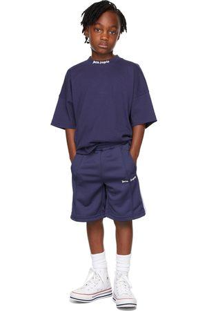 Palm Angels Shorts - Kids Navy Track Shorts