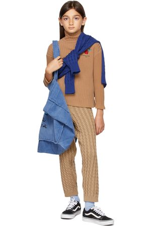 Weekend House Kids Pants - Kids Tan Cable Knit Apple Trousers
