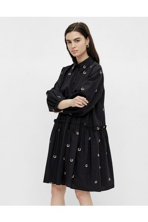 Y.A.S Embroidered horse shoe print mini dress in
