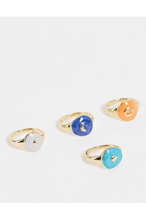Pieces 4 pack sovereign rings in multi