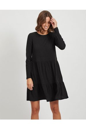 VILA Smock mini dress with tiered skirt in