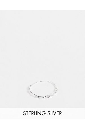 Kingsley Ryan Woven stacking ring in sterling