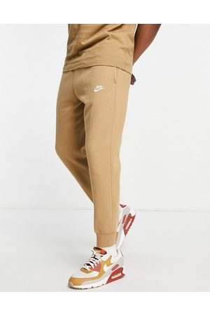 Nike Club cuffed joggers in taupe