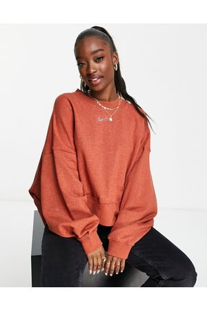 Nike Lounge essential fleece cropped sweatshirt in marl