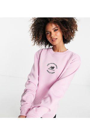 New Balance Life in balance sweatshirt in plum