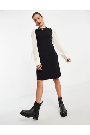 Y.A.S 2 in 1 mini dress with blouse detail in