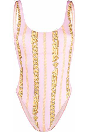 VERSACE Chain print swimsuit
