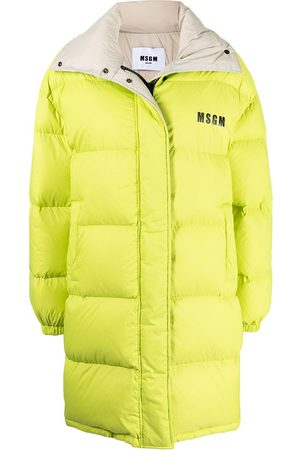 Msgm Logo-print hooded padded coat