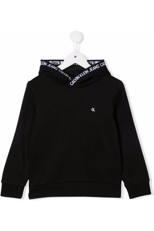 Calvin Klein Logo-print organic cotton hoodie