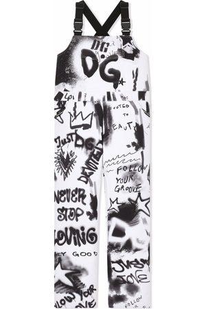 Dolce & Gabbana Graffiti-print ski trousers