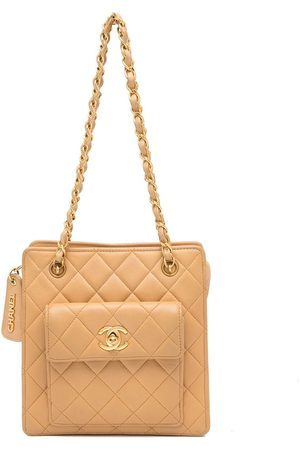 CHANEL 1995 diamond-quilted square-shaped tote bag