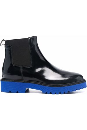 Hogan Contrast-sole Chelsea ankle boots