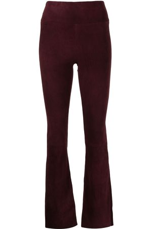 SYLVIE SCHIMMEL Flared suede trousers