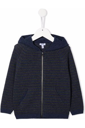 KNOT Striped knit zip-up hoodie