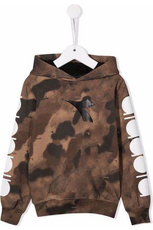 Diadora Camouflage-print pullover hoodie