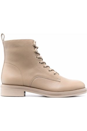 12 STOREEZ Leather 35mm ankle boots