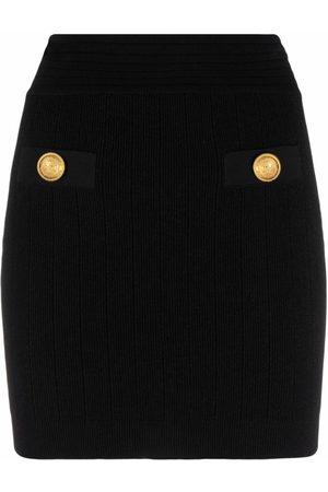 Balmain Decorative button mini skirt