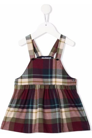 KNOT Callie checked pinafore dress