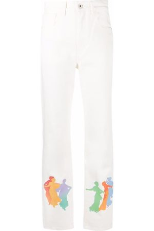 Kirin Graphic-print straight-leg jeans