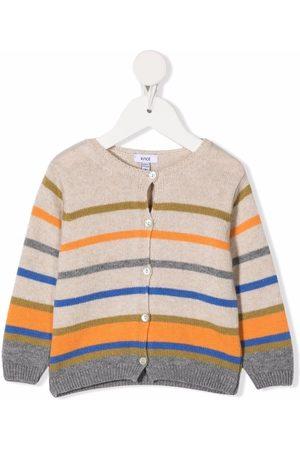 KNOT Sky striped-knit cardigan