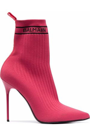 Balmain Skye knitted ankle boots