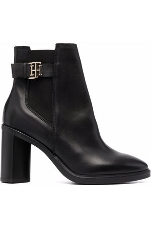 Tommy Hilfiger Monogram-Hardware leather ankle boots