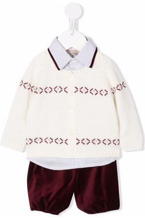 LA STUPENDERIA Three-piece knitted babywear set