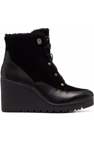 Tommy Hilfiger Warm-lined Mid Wedge leather boots