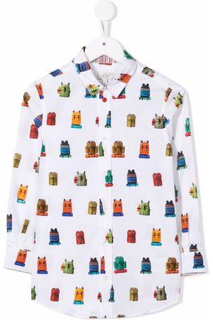 Paul Smith Graphic-print organic cotton shirt