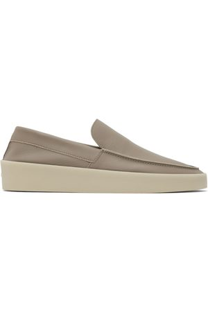 FEAR OF GOD Taupe Leather 'The Loafer' Loafers