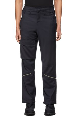 424 FAIRFAX Men Cargo Pants - Navy Wool Pilot Cargo Pants
