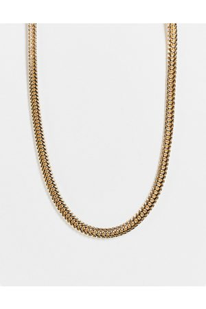 DesignB London Women Necklaces - Flat chunky chain necklace in