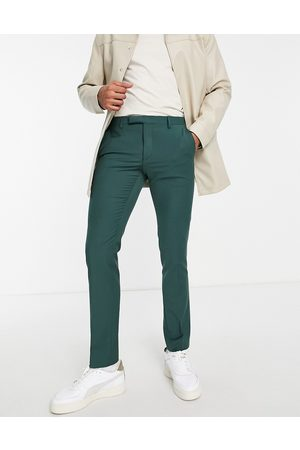 Twisted Tailor Suit trousers in forest
