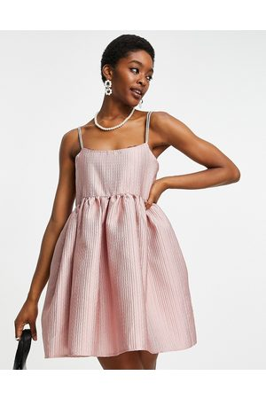 Sister Jane Dream babydoll mini dress with diamante strap details