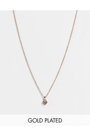 Ted Baker Neeno nano crystal heart pendant necklace in rose