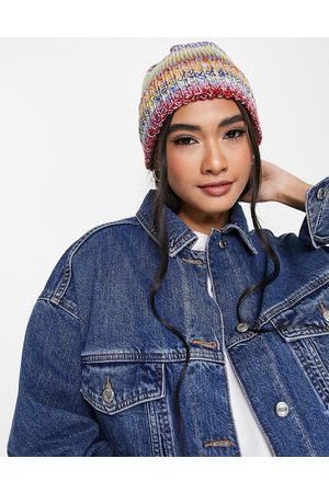 ASOS Mixed knit beanie in multi