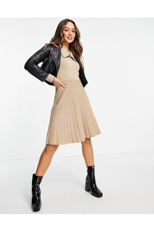 Y.A.S Knitted mini dress in -Neutral