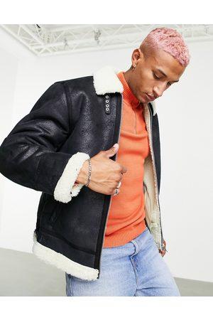 ASOS Jacket in with ecru borg collar