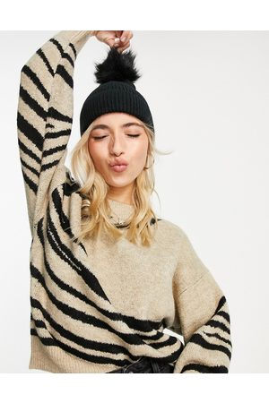 Accessorize Recycled pom beanie hat in