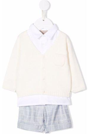 LA STUPENDERIA Three-piece checked babywear set