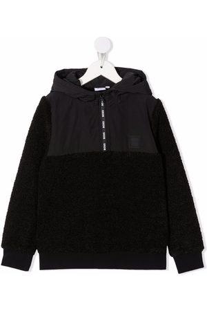 HUGO BOSS Shearling-effect hoodie