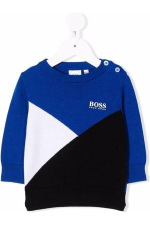 HUGO BOSS Colour-block cotton jumper