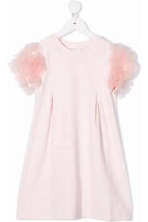 Charabia Milano Pompom-sleeve T-shirt dress