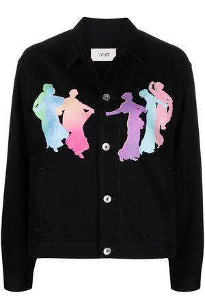 Kirin Muses-motif shirt jacket